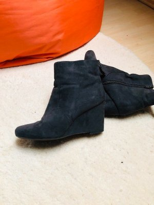 Graceland Wedge Booties anthracite leather