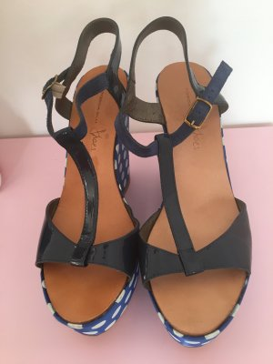 Wedge Sandals multicolored leather