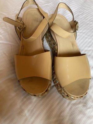 aus Italien Platform Sandals nude