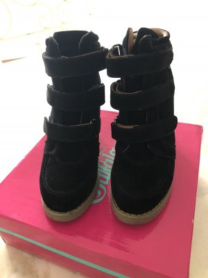 Buffalo girl Wedge Sneaker black-light brown