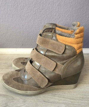 Tamaris Sneaker con zeppa marrone chiaro-beige