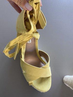 Even & Odd Sandały japonki z rzemykami żółty-bladożółty