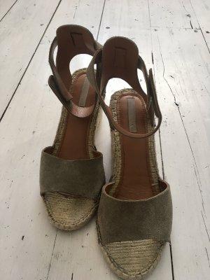 H&M Zapatos de cuña camel-caqui