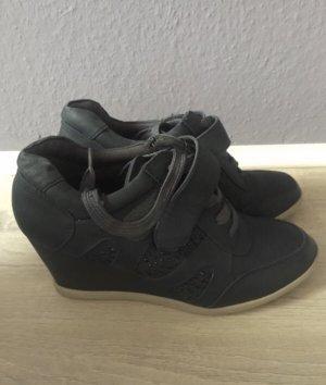 Wedge Sneaker black-blue