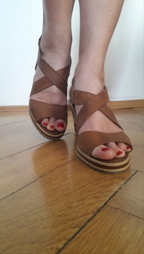 Caprice Wedge Sandals multicolored leather