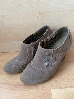 Gld Botas de cuña marrón grisáceo