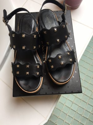 Marc Cain Wedge Sandals black leather