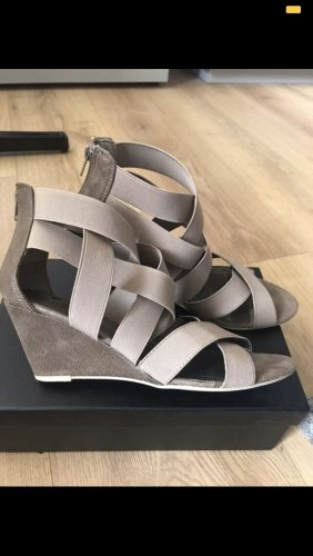 3suisses collection premium Wedge Sandals grey brown