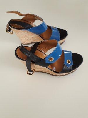Baldinini Sandalo con plateau nero-blu
