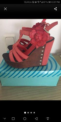 Wedges Riemchen Schuhe