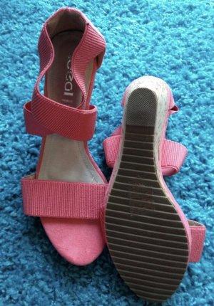 Wedges Sandalen von ideal rosa Gr. 41 NEU