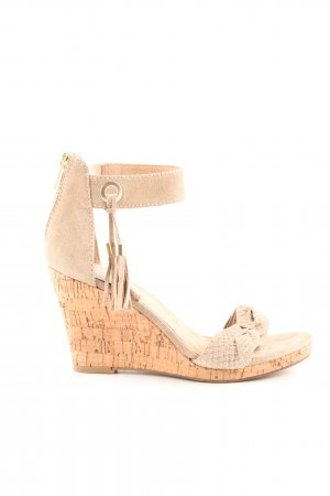 Wedges Sandaletten beige Casual-Look