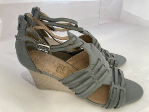 Wedges-Sandaletten / Keilabsatz blaugrau