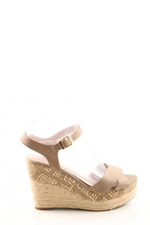 carolina boix Wedge Sandals nude casual look
