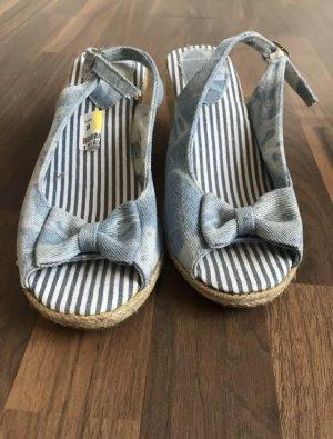Wedges Sandaletten Sandalen Schuhe Gr 38 neu