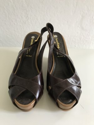 Made in Italy Compensé brun-brun sable cuir