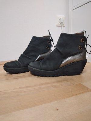 Wedges schwarz-silber