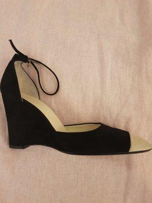 Jil Sander Zapatos de cuña negro-crema