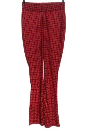 WEDNESDAY'SGIRL Pantalón de campana rojo-negro estampado a cuadros