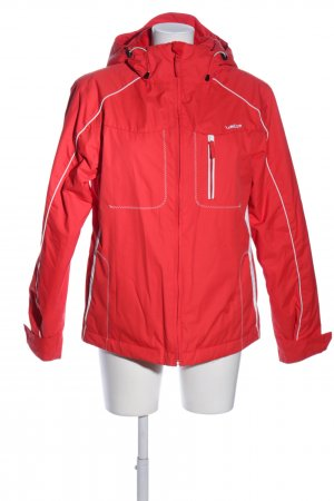 wedze Outdoorjacke rot-weiß sportlicher Stil