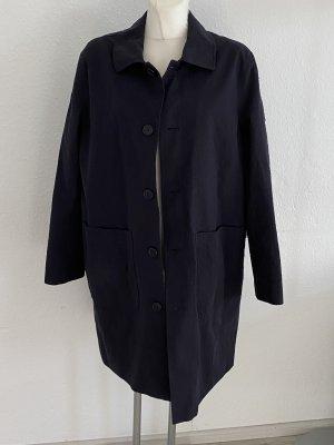 Weekday 46 Trenchcoat oversize schwarz edvard seersucker coat