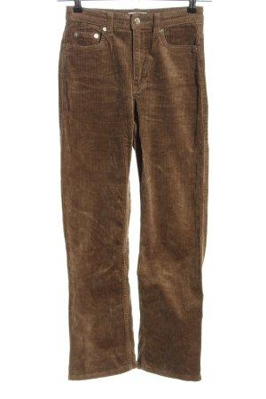 Weekday Corduroy broek bruin casual uitstraling