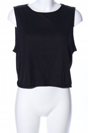 Weekday Cropped Top schwarz Casual-Look