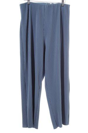 Weekday Pantalone culotte blu fiordaliso motivo a righe stile strutturale