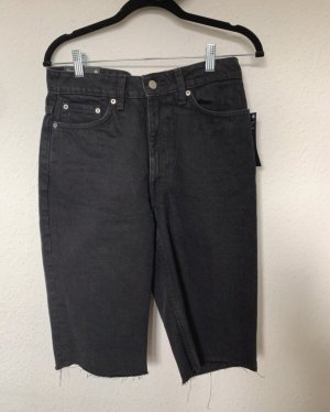 Weekday Denim Jeans Shorts Bermuda East M 40 schwarz