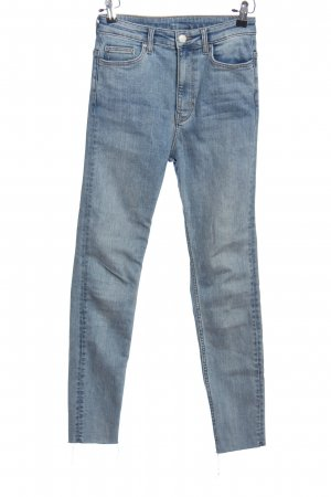 Weekday Five-Pocket-Hose blau Casual-Look