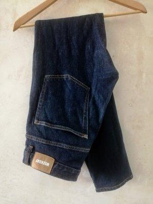 Weekday Jeans slim bleu foncé
