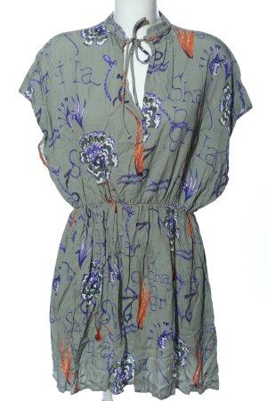 Weekday Hemdblusenkleid blau-weiß Allover-Druck Casual-Look