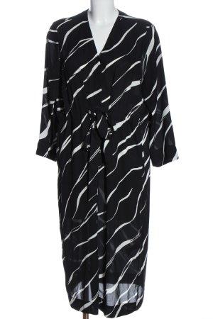 Weekday Abito blusa camicia nero-bianco stampa integrale stile casual