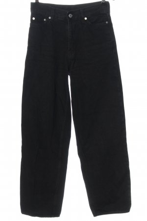 Weekday Jeans a vita alta nero stile casual
