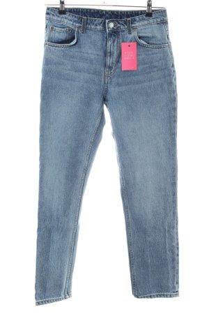 Weekday Jeans a vita alta blu Cotone
