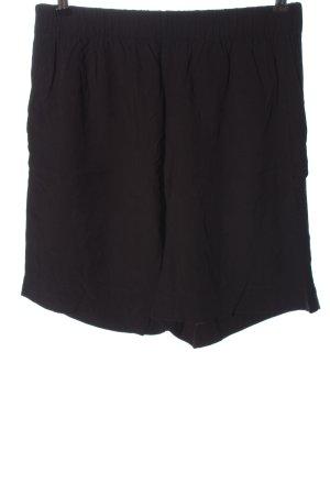 Weekday Pantaloncino a vita alta nero stile casual
