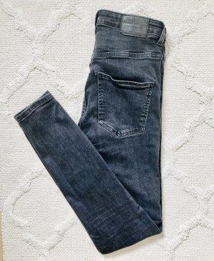 Weekday Jeans a vita alta nero