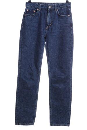 Weekday Jeans vita bassa blu stile casual