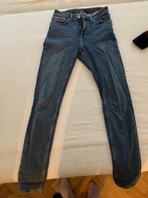 Weekday Jeans vita bassa blu