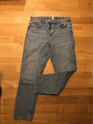 Weekday Jeans hellblau cropped