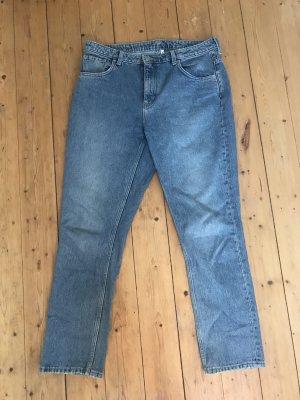 Weekday Hoge taille jeans azuur Katoen