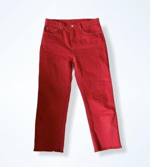 Weekday 7/8-jeans rood-neonrood