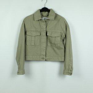 Weekday Veste en jean gris vert coton