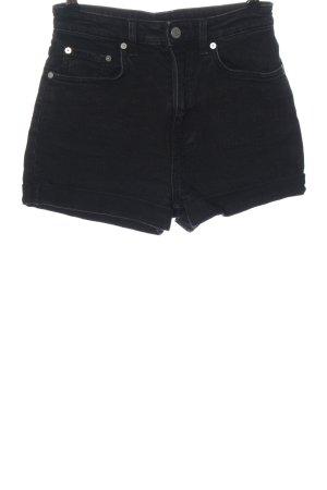 Weekday Pantaloncino di jeans nero stile casual