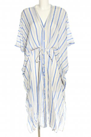 Weekday Kaftan blau-blassgelb Allover-Druck Casual-Look
