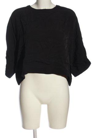 Weekday Kurzarm-Bluse schwarz Casual-Look
