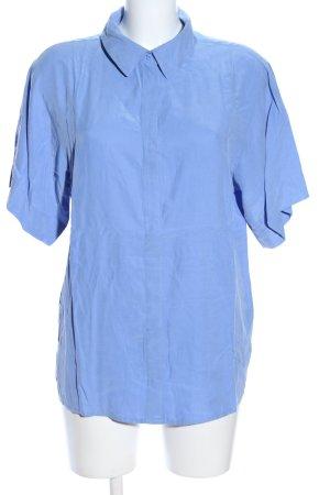 Weekday Kurzarmhemd blau Casual-Look