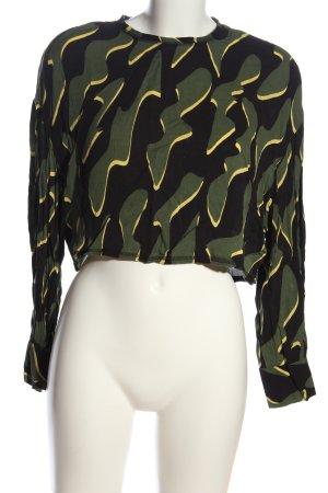 Weekday Langarm-Bluse abstraktes Muster Casual-Look