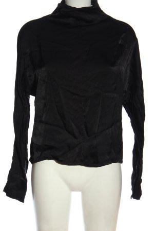 Weekday Langarm-Bluse schwarz Casual-Look
