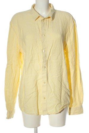 Weekday Langarmhemd blassgelb Casual-Look